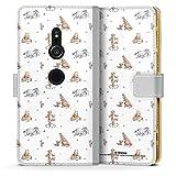 DeinDesign Étui Compatible avec Sony Xperia XZ2 Étui Folio Étui magnétique Winnie l'ourson...