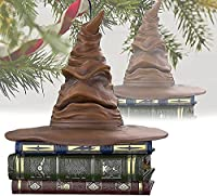 Harry Potter Sorting Hat Ornament with Sound and Motion, Harry Potter Sorting Hat Christmas Ornament, 3 in 1 Talking Sound and Motion Magic Keepsake(Can Talk)