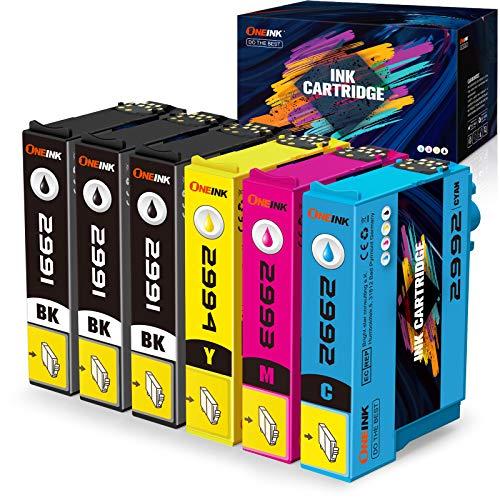 6 ONEINK 29XL - Cartuchos de tinta compatibles con Epson 29 XL compatible con Expression Home XP-235 XP-245 XP-247 XP-255 XP-257 XP-332 XP-335 XP-342
