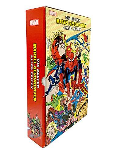 Die besten Marvel-Geschichten aller Zeiten: Marvel Treasury Edition: (Hardcover-Überformat im Schuber und bedruckten Umkarton)