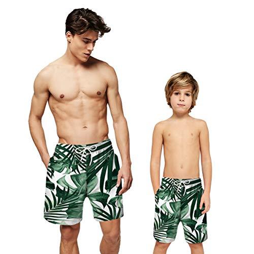 Cronell Story Vater Und Sohn Bademode Digitaldruck Beach ShortPants Eltern-Kind-Badehose Geeignet Für Männer Und Jungen (S(Kids),2)