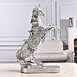 FLAMEER PVC Perro Caballo Pared Abrigo Gancho Escultura Estatua Arte Decoraci/ón Animal Cabeza Ornamento Caballo Blanco