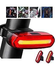 Fiets Achterlicht, LED Fietslicht USB Oplaadbaar Waterdicht Fietsverlichting 6 Modi Waarschuwingslampje Waterdicht Flitslicht voor Racefiets MTB