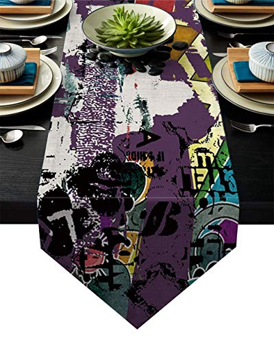 Chemin de Table Hip Hop Street Culture Graffities Spray Artwork Image Décorations De Douche De Mariage Chemins De Table De Ferme Décorations De Table Classique