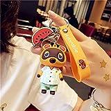 Animal Crossing Son Doll Car Portachiavi Uomo Donna Lovers Portachiavi Ciondolo Piccolo carino Portachiavi Accessori Moda Gioco Switch - 4