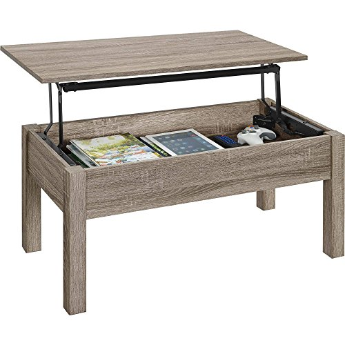 Gracelove Wood Lift-Top Coffee Table Computer...
