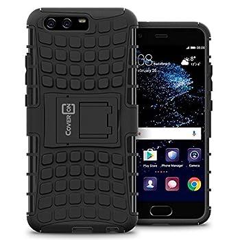 Huawei P10 Plus Case CoverON [Atomic Series] Hybrid Cover Tough Protective Hard Kickstand Phone Case for Huawei P10 Plus - Black