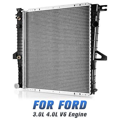 Complete Radiator Compatible with Ford Mazda Explorer Ranger B3000 B4000 3.0L 4.0L V6 DWRD1014