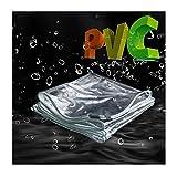 Lona MYAN Impermeable, Toldo Transparente Plegable Material De PVC Marquesinas con Ojales Resistente A La Rotura Y A Prueba De Viento Barco Invernadero Cubrir (Size : 1M X 3.2M)