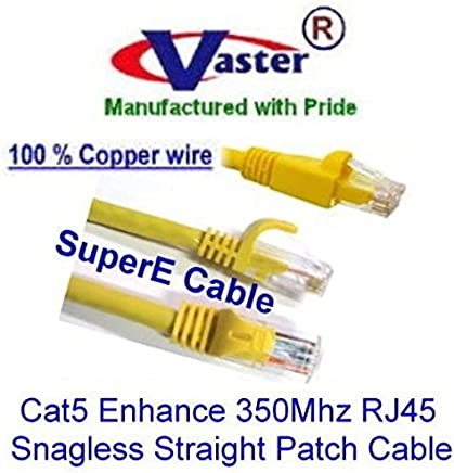 Cat5e 350Mhz Patch Cable 3 Ft//10 Pcs//Pack 20675 PURPLE RJ45 Snagless Straight Patch Cable Vaster SKU NOT CCA wire 100/% Copper UL//ETL 24Awg wire