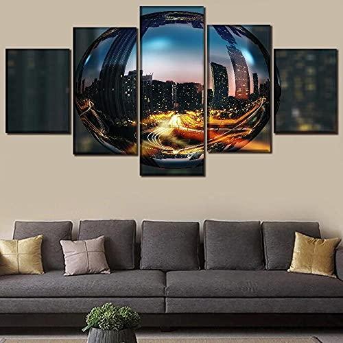 lienzos decorativos Ciudad de la bola de cristal salon dormitorios Artística cuadros...
