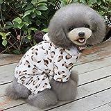 Gato Perro Saco y Capucha Mono Pijamas Ropa para Perro A Lunares Estampado de Leopardo Lana Polar Disfraz para Husky Labrador Golden Retriever Hombre Mujer Casual/Diario,S