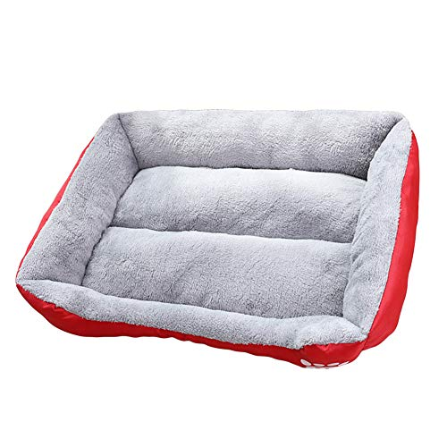 GUOCU Cat Dog Bed, Soft Warm Pet Nest Bed Moisture Proof Pet Bed Dog Cat Warm Cuddler Kennel Soft Puppy Sofaremovable Machine Washable Scratch Proof,Red,XL