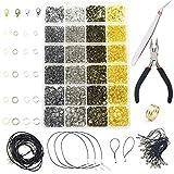 AOFOX 3143 Piezas Hallazgos de la joyería Juego de fabricación de Joyas para la fabricación de artículos de joyería y reparación de Collares