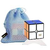 OJIN Yongjun YJ MGC2 Elite M 2x2 Puzzle Cube YJ MGC2 2 Capas 2x2x2 Cube Puzzle Yongjun MGC M Elite con un trípode de Cubo y una Bolsa de Cubo (Negro)