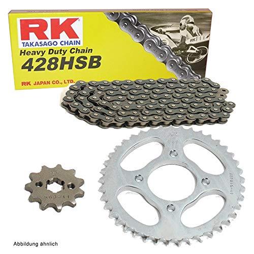 Kettensatz geeignet für CBR 125 R 04-10 Kette RK 428 H 124 offen 15/42