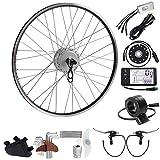 SEASON Kit de conversión para Bicicleta eléctrica Bike de 28 Pulgadas, Motor Trasero de Bicicleta para Corona en Plata o Negro, Color Plata, tamaño 28 Pulgadas