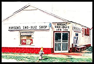 "Caroline's Treasures 8703MAT Hansen's Sno-Bliz Snowball Shop Indoor or Outdoor Mat, 18 x 27"", Multicolor"