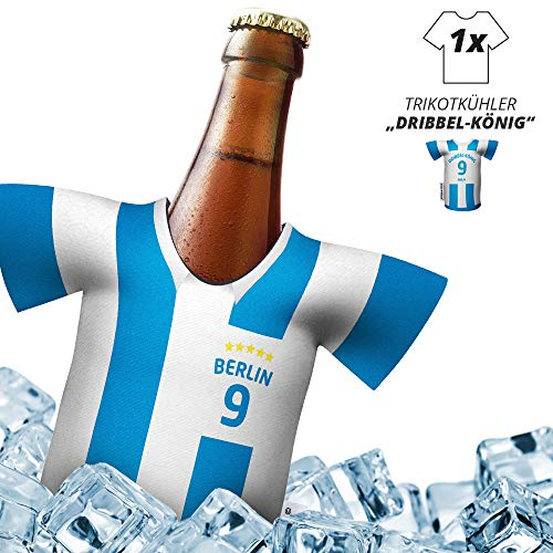 Fan-Trikot-kühler Home für. Hertha BSC-Fans | DRIBBEL-KÖNIG | 1x Trikot | Fußball Fanartikel Jersey Bierkühler by ligakakao.de