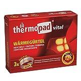 THERMOPAD Wärmegürtel GR. S-XL (Stretch/Klett) – DAS ORIGINAL: 3x Wärmegürtel für 12 Stunden Wärme I Sofort einsatzbereiter Wärmegurt mit extra warmen Wärmezellen – Einweg Nierenwärmer / Rückenwärmer -