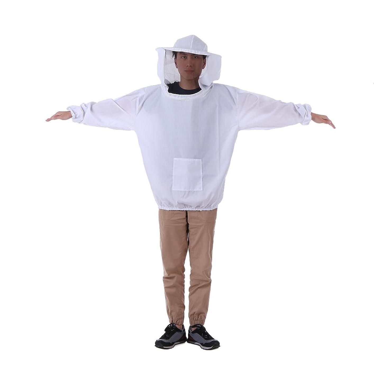 征服者安西バッチDecdeal 養蜂ジャケット ベール 養蜂帽子 スモック 防護服キット ワンサイズ