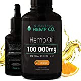 Industrial Hemp Co.100 000 mg | Pure Hemp Oil Drops, Best Hemp Oil for Pain, Stress and Anxiety Relief | USA | 2 Fl Oz (60ml)