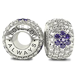 Beads & Jewelry Making Beads Competent Pave Shimmering Open Bangle Logo Spacer Caps With Cubic Zirconia Beads Fit Pandora Bracelet 925 Sterling Silver Charm Jewelry