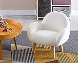 Shunzhi Fuzzy Kids Chair, Faux Fur Cute Desk Chair Fluffy Task Armchair, Fluffy Makeup Chair for Sturdy Chair for Children, Snow White