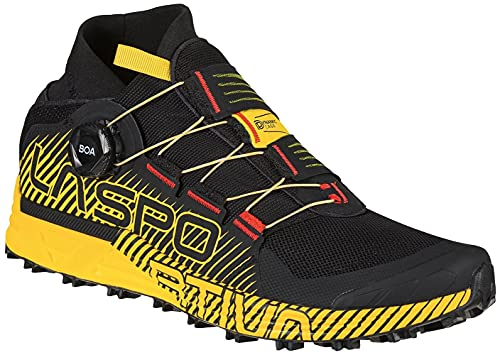 LA SPORTIVA Cyklon, Zapatillas de Trail Running Hombre, Negro Amarillo, 41.5 EU