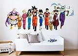 Vinilo Decorativo Infantil Dragon Ball Personajes- Bola de Dragon – Autoadhesivo de fácil colocación – Habitación Infantil – Varias Medidas (90, 37)
