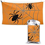 XCNGG Toallas de baño de secado rápido Toallas de baño para el hogar Toallas Pautious Quick Dry Bath Towel, Absorbent Soft Beach Towels, Halloween Spider Web for Camping, Backpacking, Gym, Travelling,