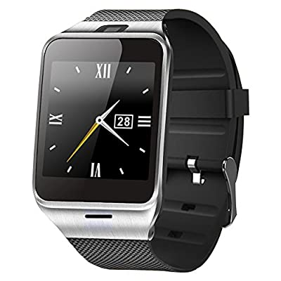 ASOON Smart Watch Bluetooth Smart Wrist Watch Cell Phone Support SIM Card for Android Smartphones, Samsung, Galaxy Note, Nexus, HTC, Sony