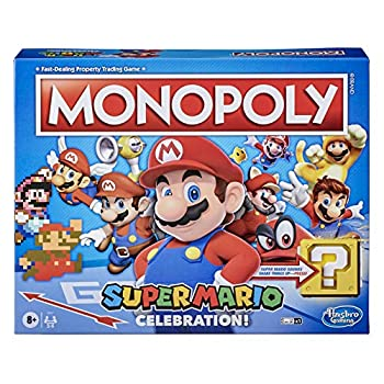 Monopoly Super Mario Celebration Edition Board Game for Super Mario Fans for Ages 8 and Up with Video Game Sound Effects