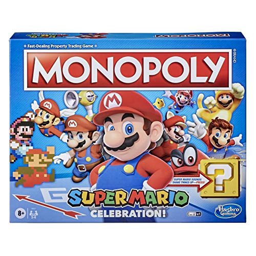 Monopoly Super Mario Celebration Edition Board Game for Super Mario Fans for Ages 8 and Up, with...