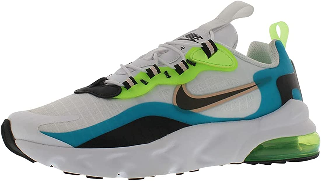 Nike Air Max 270 RT SE Boys Shoes Size 2.5, Color: Oracle Aqua/Black/Ghost Green