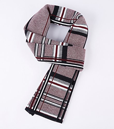 RIONA Men's Winter Cashmere Feel Australian Wool Soft Warm Knitted Scarf with Gift Box