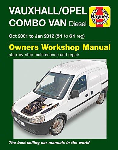Price comparison product image Fastcar HAYNES 6362 MANUAL VAUXHALL / OPEL COMBO VAN DIESEL OCT '01 - JAN '12 (51-61 reg)