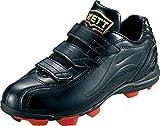 ゼット(ZETT) 少年野球 ポイントスパイク グランドメイト ブラック/ブラック 23.0cm BSR4297J