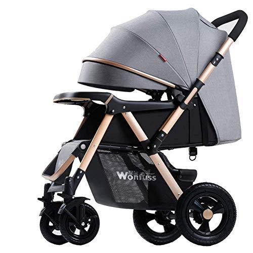 Baby carriage Hot Mom Passeggino 2 in 1 Carrozzina Pieghevole A 4 Ruote Singola Pieghevole con Parapioggia, Nato A 22 kg,Facile da Trasportare