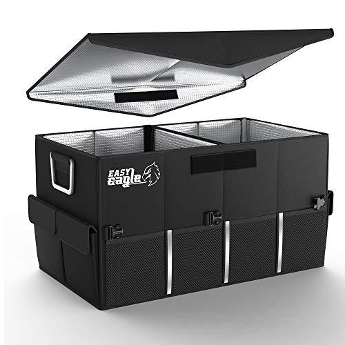 EASY EAGLE Auto Kofferraum Organizer, Isolierend Kofferraumtasche mit Wärmedämmung Autotasche Wasserdicht für Auto