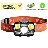 Cobiz Linterna Frontal LED USB Recargable Super Bright Headlights 500 Lúmenes