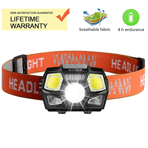 Cobiz Linterna Frontal LED USB Recargable Super Bright