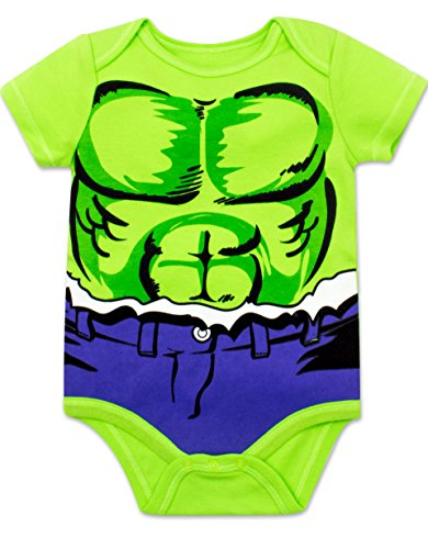 Marvel Baby Boys' 5 Pack Bodysuits - T   he Hulk, Spiderman, Iron Man and Captain America (0-3 Months)