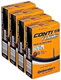 Continental Race 28 700x25-32c Bicycle Inner Tubes - 42mm Presta Valve - 4 Pack w/ Conti Sticker