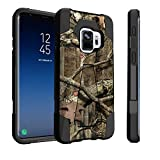 Untouchble Case for Samsung Galaxy S9, S9 Case [Traveler Series] Shockproof Hybrid 2 Layer Case with Kickstand Case - Real Hunter Camo