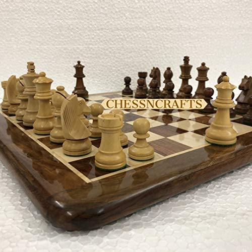 CHESSNCRAFTS 16' X 16' Collectible Wooden Chess Board Game Set- Wooden Tournament Chess- Premium Quality