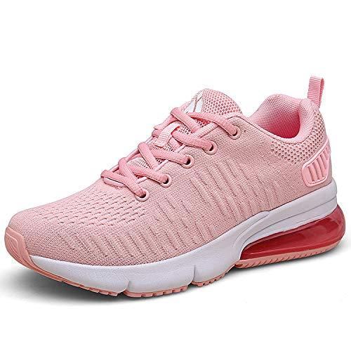 Laufschuhe Pink Mit Dämpfung Damen Turnschuhe Leicht Sportschuhe Atmungsaktiv Running Outdoor Sneakers für Frauen gr.42