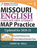 Missouri Assessment Program Test Prep: Grade 3 English Language Arts Literacy (ELA) Practice Workbook and Full-length Online Assessments: MAP Study Guide