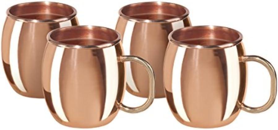 Oggi Copper Moscow Mule Kansas City Free Shipping New Mall Shot Mug of 4 Set