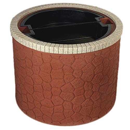 TankTop Covers Decorative 35-Inch Basin Planter - Septic, Well, Lawn and Garden Enclosure with 5-Inch Deep Planter Insert - Brick